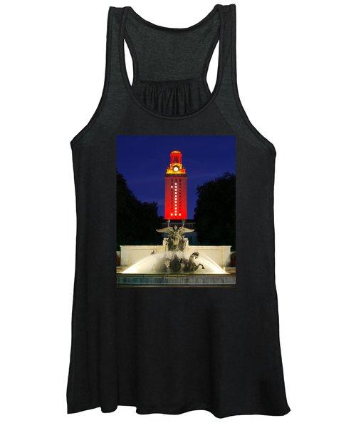Ut Austin Tower Orange Women's Tank Top