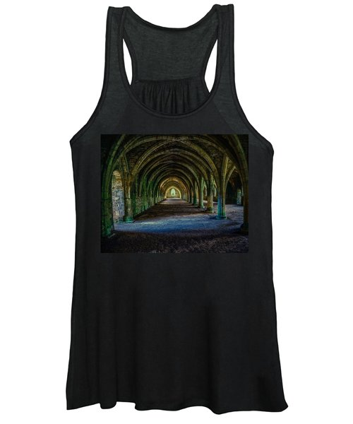 Vaulted, Fountains Abbey, Yorkshire, United Kingdom Women's Tank Top