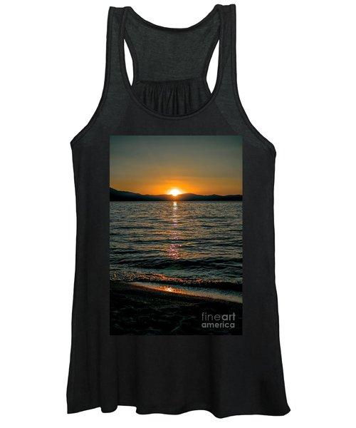 Vertical Sunset Lake Women's Tank Top