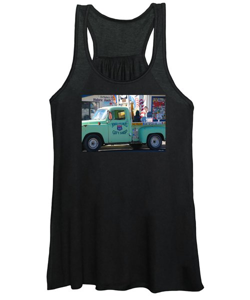 Vintage Truck With Elvis On Historic Route 66 Women's Tank Top
