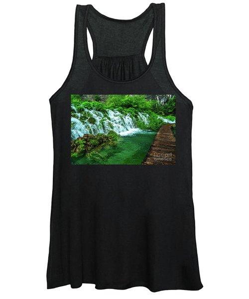 Walking Through Waterfalls - Plitvice Lakes National Park, Croatia Women's Tank Top