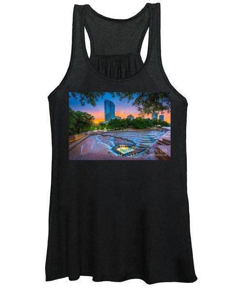 Water Gardens Sunset Women's Tank Top
