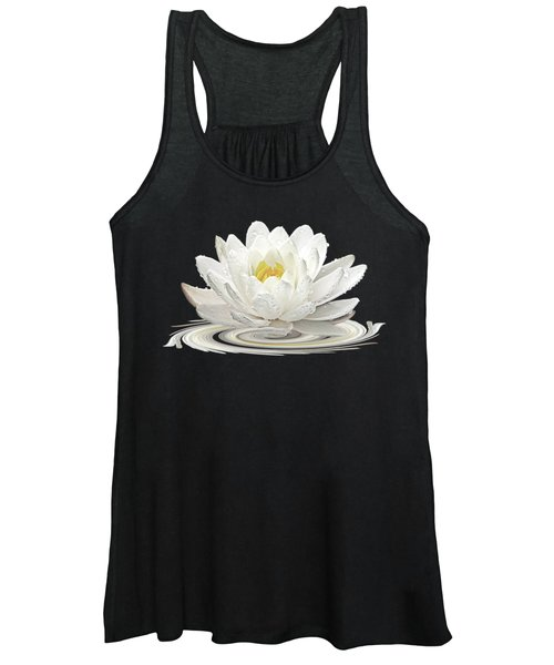 Water Lily Whirl Women's Tank Top