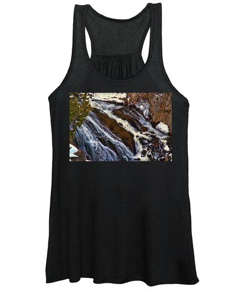 Waterfall In Yellowstone Women's Tank Top