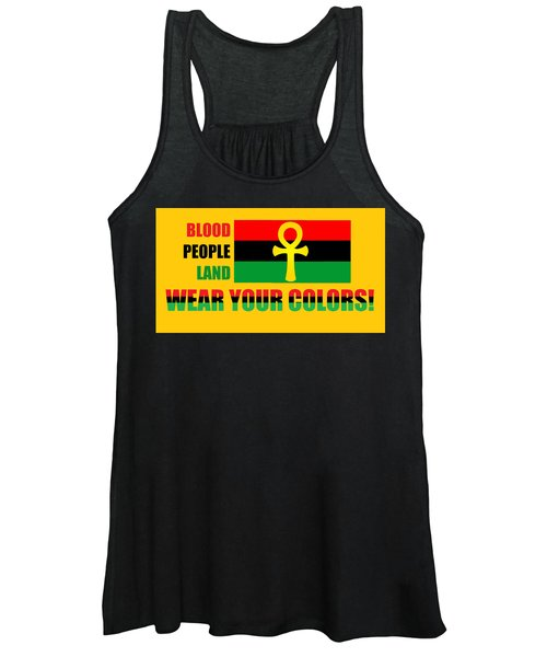 Wear Red Black And Green Women's Tank Top