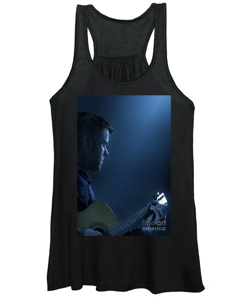 While My Guitar Gently Weeps Women's Tank Top