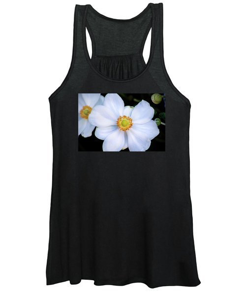 White Flower Women's Tank Top