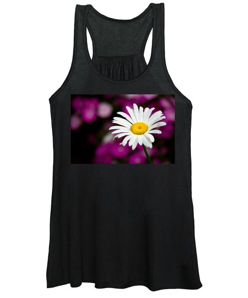 White On Pink Women's Tank Top