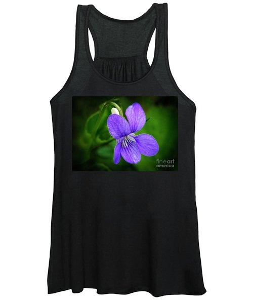 Wild Violet Flower Women's Tank Top
