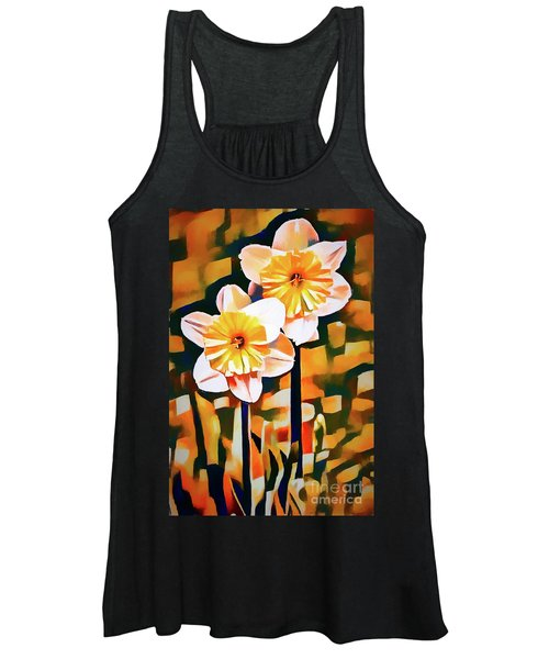 Wildly Abstract Daffodil Pair Women's Tank Top