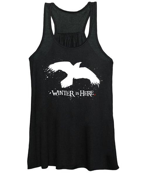 Winter Is Here - Large Raven Women's Tank Top