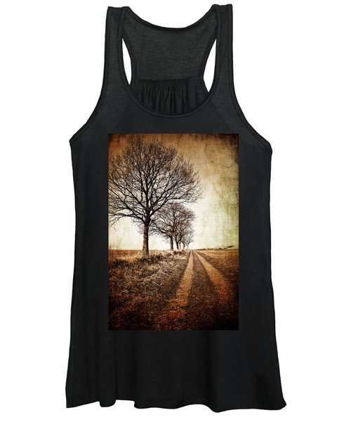 Winter Track With Trees Women's Tank Top