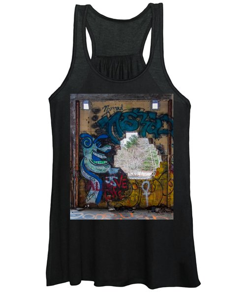 Wompatuck Graffiti Man Women's Tank Top