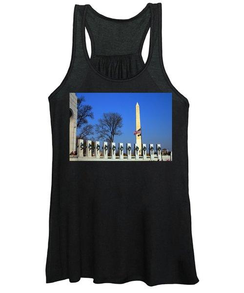 World War II Memorial And Washington Monument Women's Tank Top