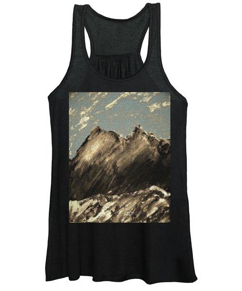 Wyoming Mountain Scene Women's Tank Top