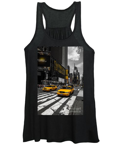 Yellow Cabs Cruisin On The Times Square  Women's Tank Top