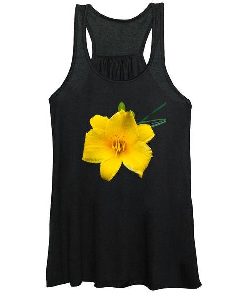 Yellow Daylily Flower Women's Tank Top
