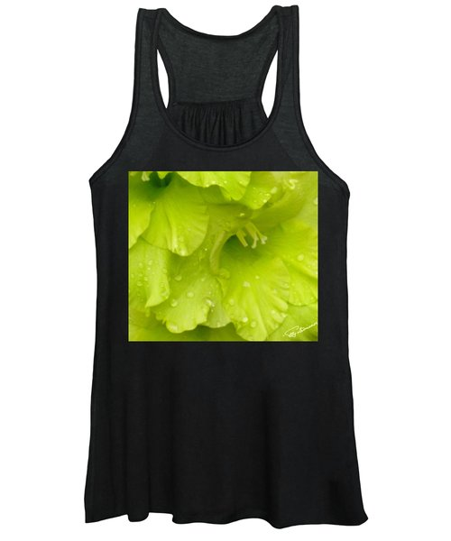 Yellow Gladiola Refreshed Women's Tank Top