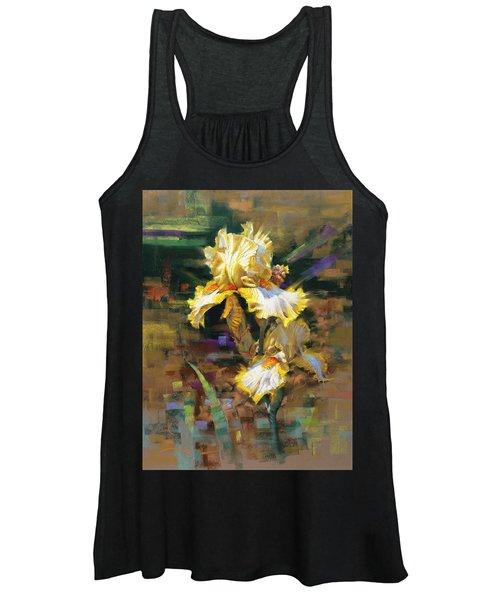 Yellow Iris II Women's Tank Top