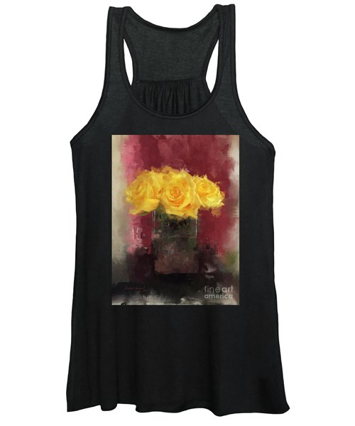 Yellow Roses Women's Tank Top
