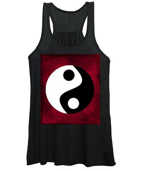 Yin And Yang - Dark Red Women's Tank Top