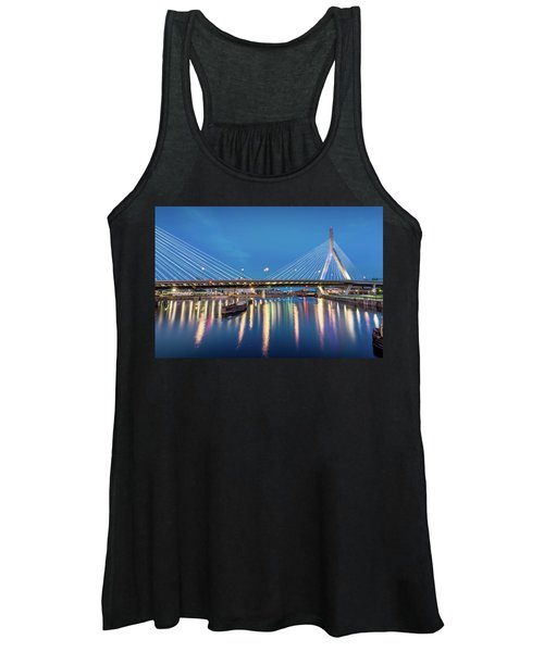 Zakim Bridge And Charles River At Dawn Women's Tank Top