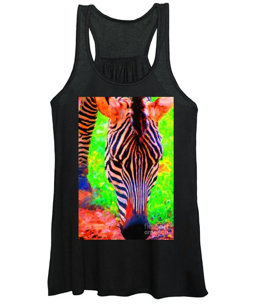 Zebra . Photoart Women's Tank Top