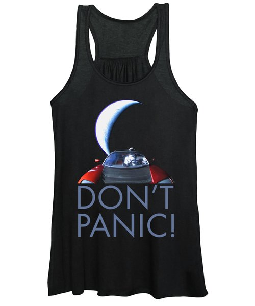Don't Panic Starman Women's Tank Top