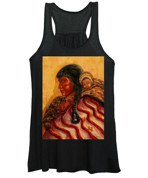 American Indian Mother And Child Women's Tank Top