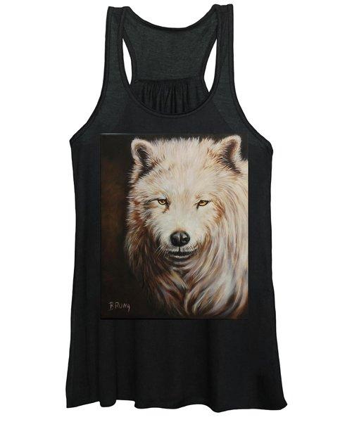 Arctic Wolf Portrait Women's Tank Top