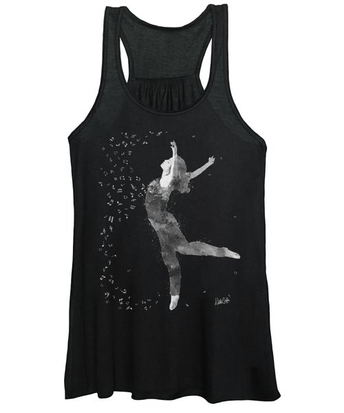 Beloved Deanna Radiating Love In Black And White Women's Tank Top