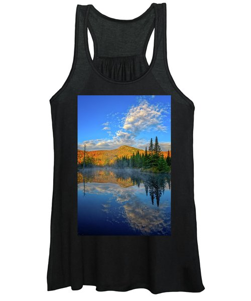 Autumn Sky, Mountain Pond Women's Tank Top