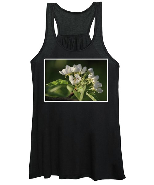 Beautiful White Pear Blossom Women's Tank Top