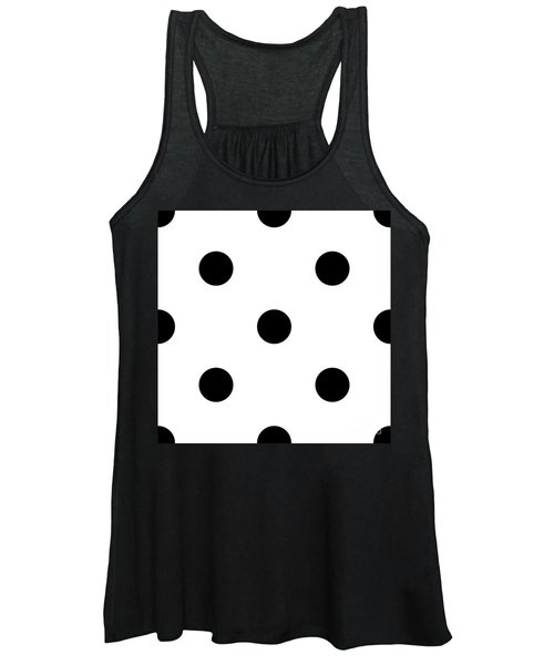 Black Dots On A White Background- Ddh610 Women's Tank Top