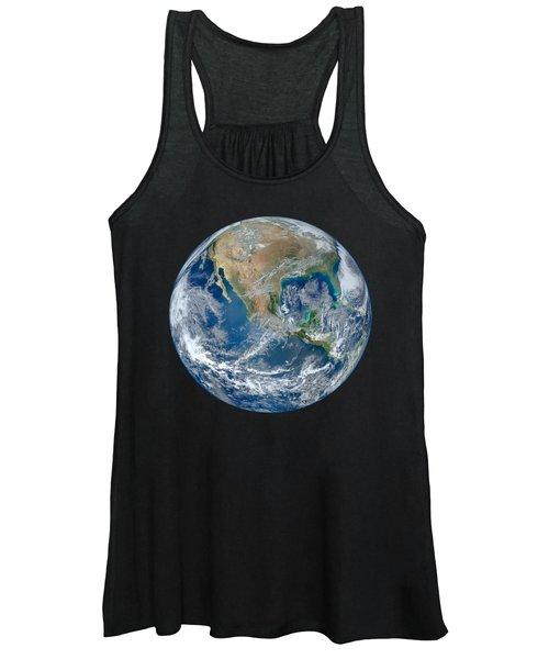 Blue Marble Our Earth From Space Women's Tank Top