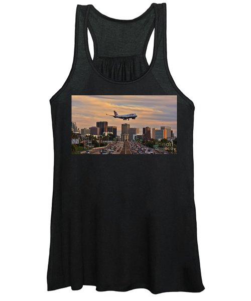 Boeing 747 Landing In San Diego Women's Tank Top