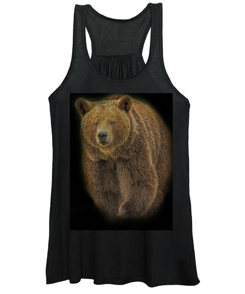 Brown Bear In Darkness Women's Tank Top