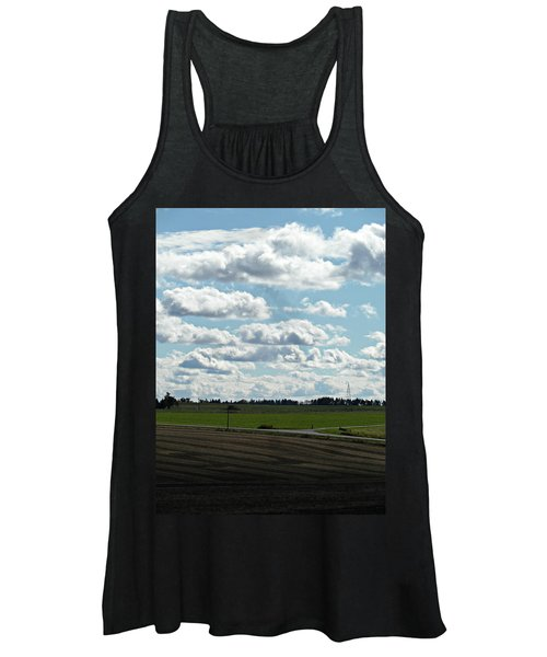 Country Autumn Curves 4 Women's Tank Top
