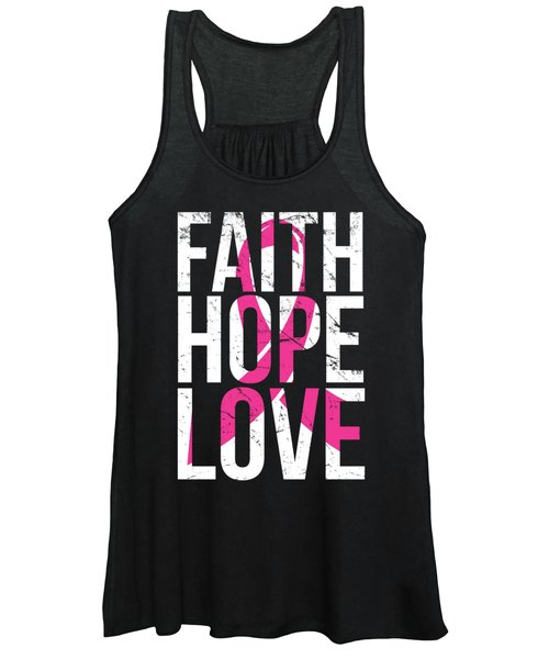 Faith Hope Love Breast Cancer Awareness Women's Tank Top