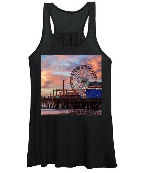 Ferris Wheel On The Pier - Square Women's Tank Top