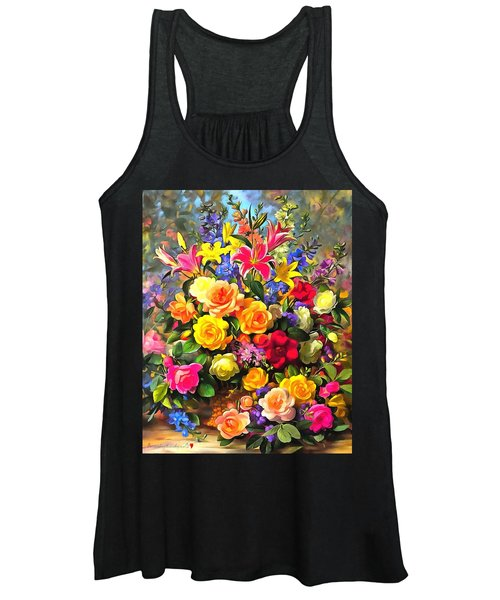 Floral Bouquet In Acrylic Women's Tank Top