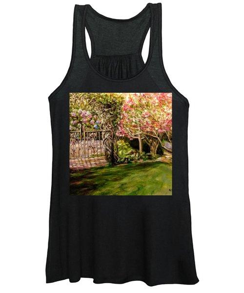 Garden Gate At Evergreen Arboretum Women's Tank Top