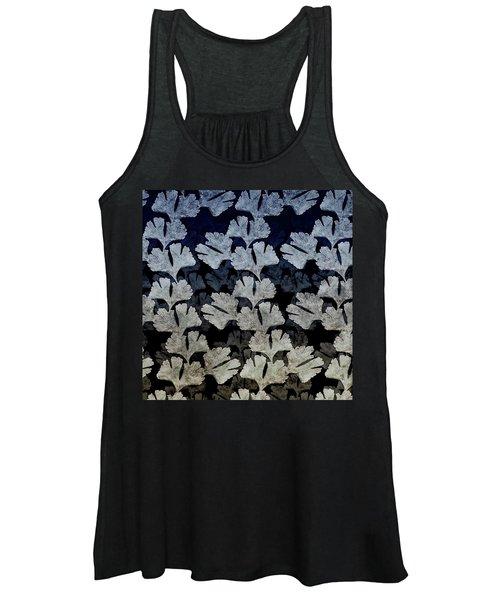 Ginko Leaf Pattern Women's Tank Top