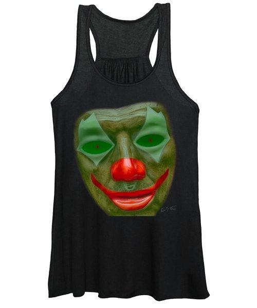 Green Clown Face Women's Tank Top