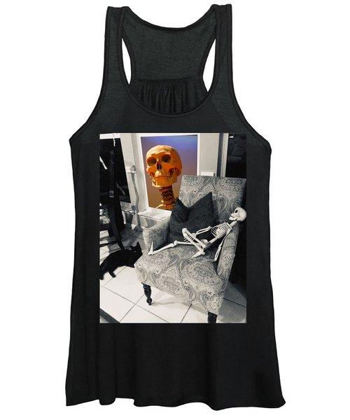 Halloween Window Dressing Women's Tank Top