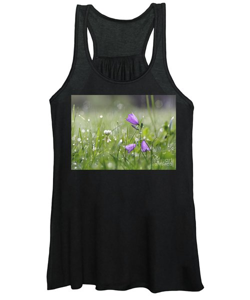 Harebells And Water Drops Women's Tank Top