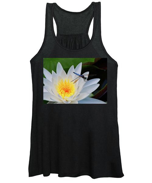 Lily And Dragonfly Women's Tank Top