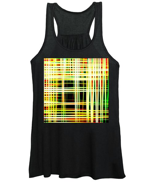 Lines And Squares In Color Waves - Plb418 Women's Tank Top