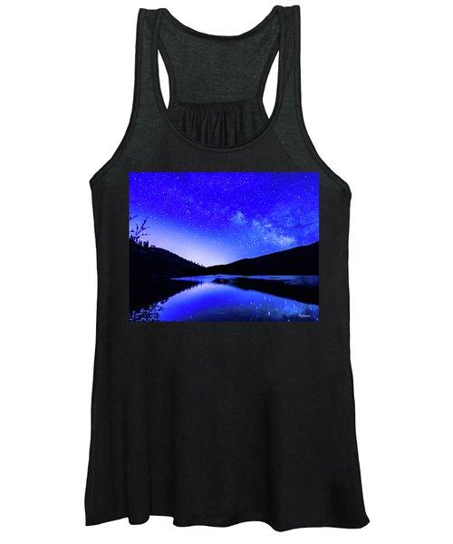 Milky Way Over Springtime Echo Lake Women's Tank Top