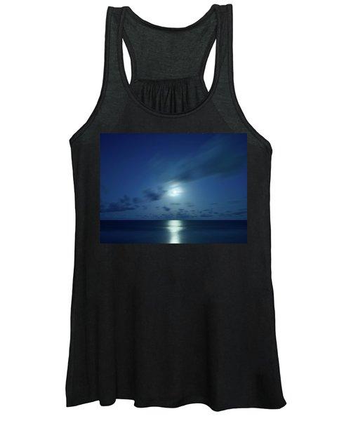 Moonrise Over The Sea Women's Tank Top